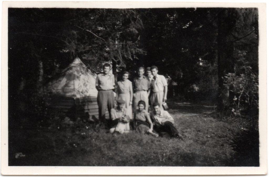 Návšteva v Terni. Dole zľava: Budinský-Krička, Čilinská, Bánesz; Horný rad zľava: Kabát, Schmiedlová, Prošek, Jílková, Pavúk.