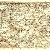 Mapa župy Orava, okolo r. 1800. Arva district map around 1800 A.D.