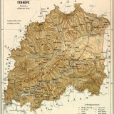 Mapa župy Orava, r. 1912. Arva district map, year 1912.