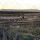 How old is this pastoral house? Notice two phases of the roof construction.