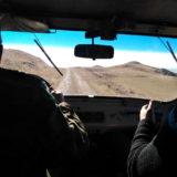 Road to Caucasus. Notice prehistoric tumuli right.