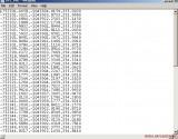 Fig. 02. Upravený Ascii text pre import do čistého AutoCADu.