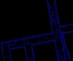 Obr. 6. Polygonová prezentácia štruktúry - muriva, s vykreslením detailu (textúry)