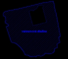 Obr. 8. Vektorizácia štruktúry (dlažby), textúra povrchu symbolizovaná šrafou.