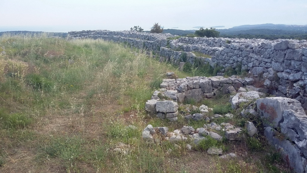 The wall near the northern gate - a view to the west.