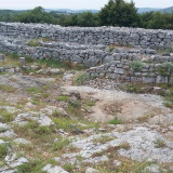 The dry stone wall construction details.