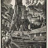 year: 1930; material: linocut author: Ferdiš Duša; original: SNG G1116