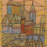 year: 1952; material: paper/pastel author: Janko Alexy; original: Lipt. gallery P.N.B.  K1156