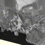 Fotogrametrický snímek Dolních Chobolic z r. 1946 - výřez.